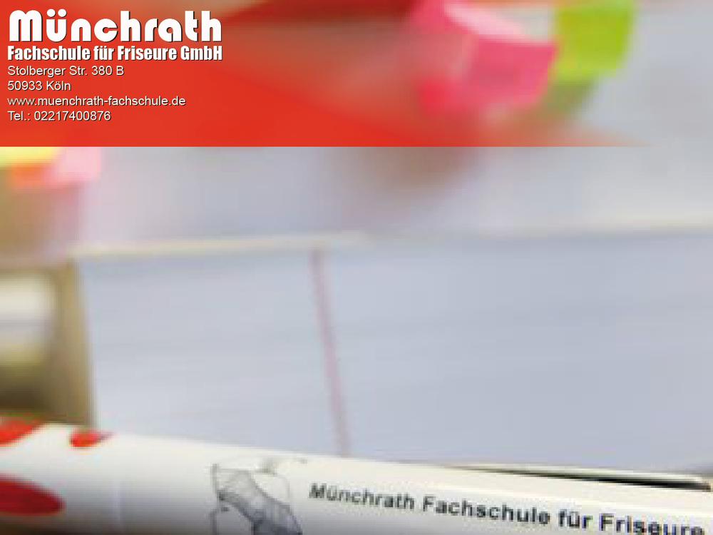 Friseur-Meisterschule Fachsliteratur 2018 Münchrath Fachschule für Friseure Stolberger Str 380 B 50933 Köln